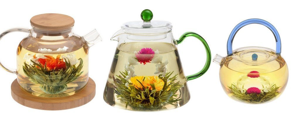 Blooming tea flowers